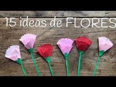 15 manualidades de FLORES para niños | Ideas para el día de la madre Crafts, Ideas, Easy Origami For Kids, Easy Cards, Mother Day Gifts, Carnations, Crafts To Make, One Day, Paper Envelopes
