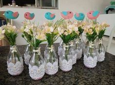 Wedding centerpieces diy no flowers bridal shower trendy ideas Bridal Shower Flowers, Bridal Shower Decorations, Balloon Decorations, Wedding Decorations, Decor Wedding, Flower Decorations, Wedding Table, Rustic Wedding, Table Decorations