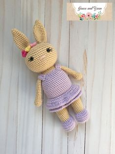 Berry Patch Bunny Girl Version - A Free Amigurumi Pattern | Grace and Yarn