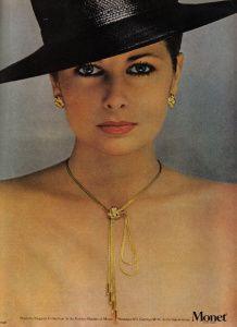 Monet  US Vogue February 1979 Model Cristina Ferrare