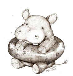 Hippo by ~Ceramir on deviantART
