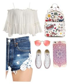 """""""Sin título #15"""" by blairwaldorf88 on Polyvore featuring moda, Ray-Ban, Anya Hindmarch, Sans Souci, Forte Couture y Converse"""