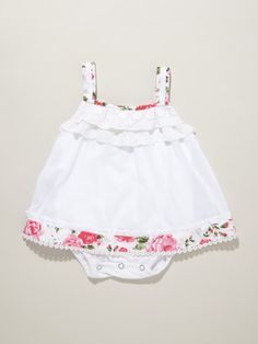 Beetle Baby Embroidered Onesie Dress