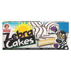 Little Debbie Snacks Zebra Cakes for commissary items Little Debbie Zebra Cakes, Little Debbie Snack Cakes, Chocolates, Junk Food Snacks, 90s Food, Fruit Snacks, Easy Snacks, Chocolate Icing, School Snacks