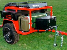 outland trailers: sherpa - keep stocked in the garage, hook it up and go. extra fuel, water, and plenty of lockable storage.