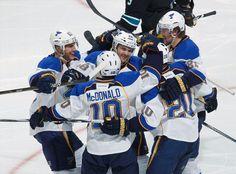 NHL: WESTERN CONFERENCE QUARTERFINALS GAME 3  Blues 4 Sharks 3 FINAL  Top Performer- A. McDonald, STL: 1 G,  2 AST  BLUES LEAD SERIES 2-1  keepinitrealsports.tumblr.com  keepinitrealsports.wordpress.com