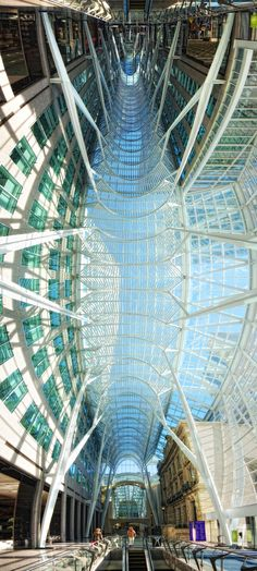 Toronto Brookfield Place Glass Roof Vertical Panorama