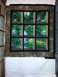 Panel Quilts, Quilt Blocks, Attic Window Quilts, Flower Quilts, Christmas Tree Ornaments, Window Panes, Windows, Challenge, Fabrics