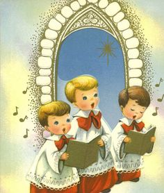 Vintage Christmas Card Boys Church Choir by TheVintageGreeting, $5.35