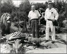 Walt Disney overseeing the Jungle Cruise construction