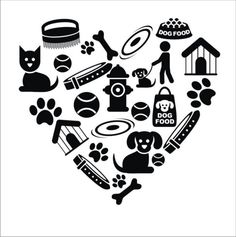 Love my dog vinyl wall decal Heart shaped by greywolfgraphics, $18.00