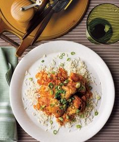 Slow-Cooker Curried Chicken With Ginger and Yogurt | Fill it up, plug it in, and…