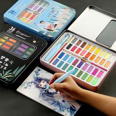 Art Painting Supplies, Paint Supplies, Painting For Kids, Diy Painting, Art And Craft Materials, Watercolor Paint Set, Diy School Supplies, Marker Art, Acrylic Art