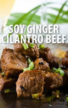 The Chew's Michael Symon showed off his latest Five in Five dinner, a Soy Ginger Cilantro Beef Sirloin Recipe that is easy to make in batches for parties. http://www.recapo.com/the-chew/the-chew-recipes/the-chew-soy-ginger-cilantro-beef-sirloin-recipe-with-john-leguizamo/