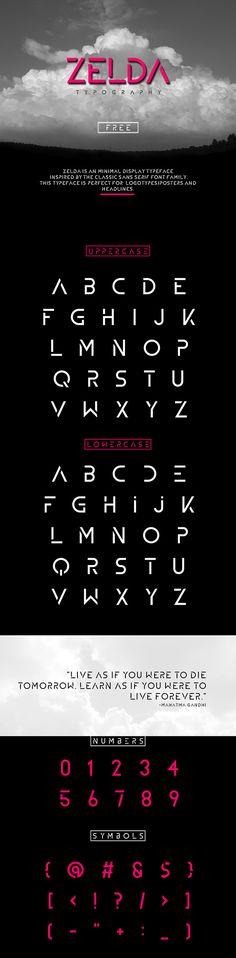 Zelda free font by jabir j3 #free #font