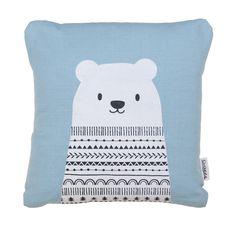 Monochrome pattern bear cushion by ClothKat on Etsy https://www.etsy.com/listing/214918919/monochrome-pattern-bear-cushion