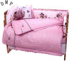 Promotion! 7pcs Cartoon baby bedding cot 4bumper 100% cotton Crib Sheet kit berco (4bumper+duvet+matress+pillow) #Affiliate