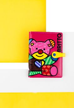 FUSCHIA TEDDY passport holder $32