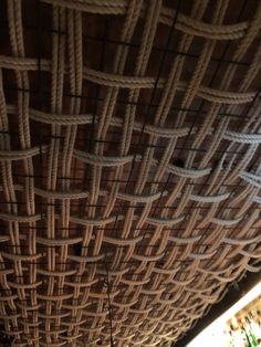 Pergola With Ceiling Fan Code: 2252863894 Bamboo Ceiling, Roof Ceiling, Ceiling Decor, Pergola With Roof, Pergola Attached To House, Diy Pergola, Cheap Pergola, Casa Patio, Patio Roof