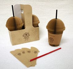 Coffee Cup Design – Caffeine Inspiration Memo pad and a pen - Coffee InspiredMemo pad and a pen - Coffee Inspired Cool Coffee Cups, Coffee Cup Design, Food Packaging Design, Packaging Design Inspiration, Corporate Design, Creative Coffee, Blended Coffee, Sticky Notes, Food Design