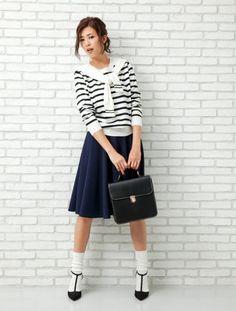 上品×カジュアルな着こなしがハイセンス!大人かわいいタイプの女子にオススメしたい☆キレカジ系コーデ、スタイル・ファッションの参考に♪