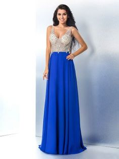 Plus Size Prom Dress, A-Line Chiffon Straps Sleeveless Sweep/Brush Train With Beading Dresses Shop plus-sized prom dresses for curvy figures and plus-size party dresses. Ball gowns for prom in plus sizes and short plus-sized prom dresses Long Sequin Dress, Chiffon Dress Long, Lace Dress With Sleeves, Tulle Prom Dress, Satin Dresses, Bride Dresses, Dresser, Plus Size Prom Dresses, Formal Dresses