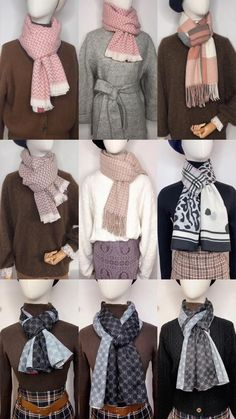 How To Wear A Blanket Scarf, Ways To Wear A Scarf, Diy Scarf, How To Wear Scarves, Scarf Wearing Styles, Scarf Styles, Diy Fashion Hacks, Fashion Ideas, Mode Outfits