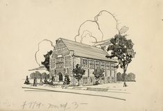 THE TRIPLETS ARE TURNING 100! Three Toronto Public Library branches (Wychwood, High Park and Beaches) are celebrating their 100th birthday, starting this weekend. They all shared the same architect, Eden Smith & Sons. This is an architectural sketch of the Wychwood branch, which was published the journal of the Royal Architectural Institute of Canada (May-June, 1926). Come, help us celebrate this month.