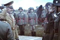 Agfacolor-color-diapositivas-espanol-general-Division-azul-prestara-juramento-Grafenwohr-1941