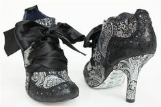 IRREGULAR CHOICE Abigails Party Shoe Boot BLACK