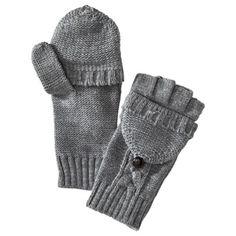 $11 Merona Light Grey Flip Top Cable Glove