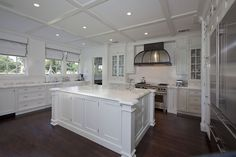 Beautiful kitchen with golf course views in Coral Gables.