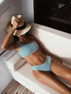 Our number one best seller each year - The Penelopé suit in Stormy Blue #egdamgaardswimwear #penelopebikini One Shoulder Bikini, One Shoulder Tops, Swimwear Fashion, Bikini Fashion, Bikini Bottoms, Bikini Tops, Cute Bathing Suits, Cool Hats, Designer Swimwear