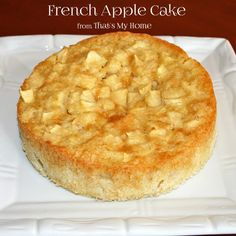 Delicate rum batter surrounds delicious apple pieces in this delicious French Apple Cake. Serve with a little whipped cream on the side.» Recipes, Food and Cooking