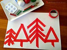 Tape Trees, Christmas crafts!!! Left Brain Craft Brain