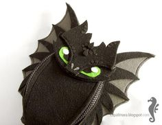 Hip bag Toothless - funny, cute black dragon - felt - wings - for fan - how to train your dragon - MADE TO ORDER Toothless Funny, Felt Dragon, Dragon Movies, Strongest Glue, Gifts For My Wife, Black Dragon, Hip Bag, Sewing Dolls, How Train Your Dragon