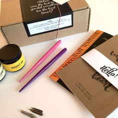 Watch Calligraphy DIY videos & the cool pens they used!