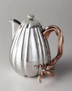 "home decor & kitchen interior design - ShopStyle: Michael Aram Gourd & Vine"" Hot Beverage Pot"