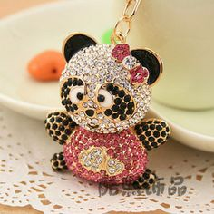 Free shipping Accessories exquisite rhinestone car keychain women's bag buckle gift