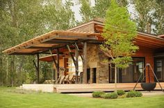 HappyModern.RU | Комбинированные дома из камня и дерева (51 фото): проекты, преимущества, особенности строительства | http://happymodern.ru