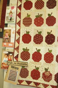 I made an Apples to Apples quilt that is identical to this one except for the border.  It's such a cheery quilt and it's one of my favorites.