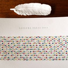 2013 calendar, satsuma press triangle pattern.