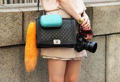 Hard clutch, double bag it! via Monica Rose.