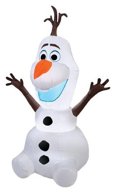 Gemmy 39842 Olaf Christmas Inflatable, Multicolored, Fabric, 1 lights
