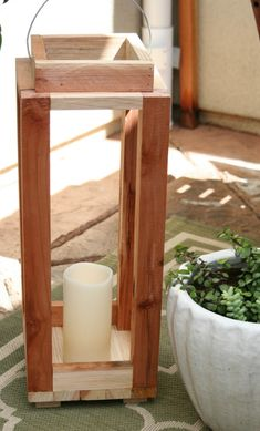 how to build a pottery barn lantern