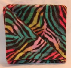 Check out this item in my Etsy shop https://www.etsy.com/listing/210087783/multi-color-zebra-print-fleece-snuggie