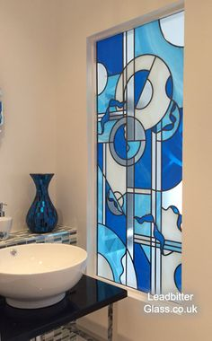 In 2014 we received an order from a client that had seen a previous job in our Past Works section. This new enquiry was for [. Modern Stained Glass, Faux Stained Glass, Stained Glass Designs, Stained Glass Projects, Stained Glass Patterns, Leaded Glass, Stained Glass Windows, Greek Paintings, Modern Art Paintings