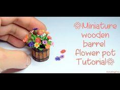 Quilling miniature flower pot in diy 3d Quilling, Quilling Flowers, Polymer Clay Flowers, Polymer Clay Crafts, Paper Flowers, Barrel Flowers, Dollhouse Tutorials, Mini Plants, Miniature Plants