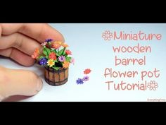 Miniature wooden barrel flower pot Tutorial - YouTube