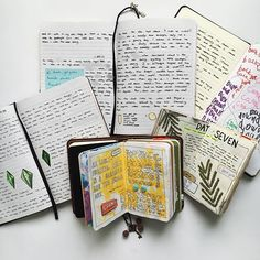 WEBSTA @ _hinder - A few favourite pages from my #journals. They're the ones I love the look of, the ones which bring back memories you can't see and were most fun to write/make